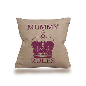 'Mummy Rules' Cushion - patterned cushions