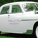 Wedding Vehicle Decals