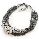 Pearl Multi-Chain Cluster Bracelet