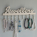 Distressed Wooden 'Jewellery' Hooks