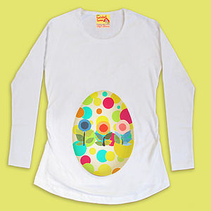 Easter Egg Maternity T-Shirt - personalised
