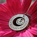 Personalised Rustic Circle Of Love Necklace