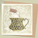 Seedlings Strawberry Tea Card With Seeds