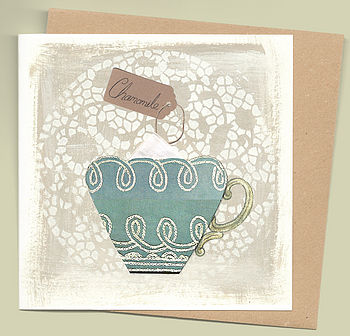Tea Card With Chamomile Seeds