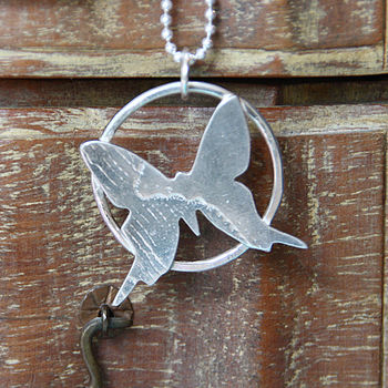 Handmade Large Butterfly Pendant