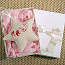 personalised cream star gift boxed