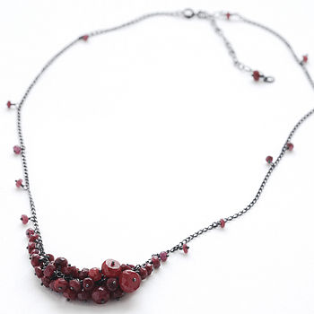 Ruby Single Cluster Necklace