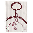 Quarter Numeral Pocket Watch Tea Towel