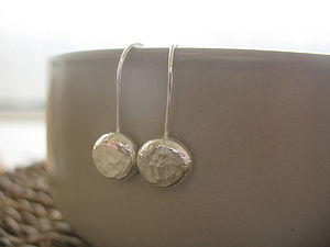 Silver Nugget Earrings - earrings