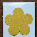 Yellow Glitter Flower Mother's Day Card