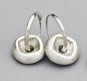 Rock Hoop Earrings