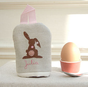 Personalised Rabbit Egg Cosy