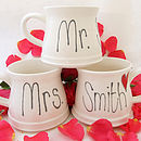 Handmade Personalised Wedding Mugs