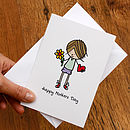 Illustrated Boys Mothers Day Card