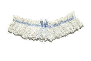 Ariane Ivory Lace Wedding Garter - lingerie & nightwear