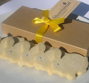 Easter Bunny Shortbread Biscuit Box - biscuits