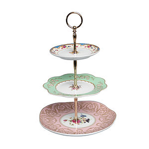 Vintage Style Three Tier Cake Stand - table decorations