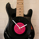Upcycled Personalised Electric Guitar Clock