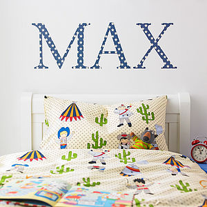 Giant Blue Star Wall Letters - children's room accessories