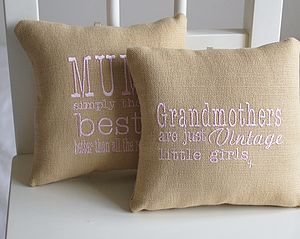 Embroidered Cushion Door Hanger And Keepsake - cushions