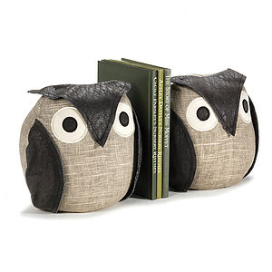 Pair Of Ollie Owl Bookends - bookends