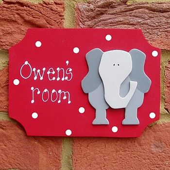 Personalised Elephant Door Plaque