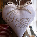Double Monogrammed Heart