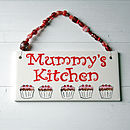 Personalised Kitchen Plaque - Red