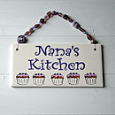Personalised Kitchen Plaque - Purple