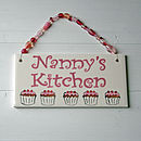 Personalised Kitchen Plaque - Pink