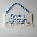 Personalised Kitchen Plaque - Blue