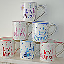 Personalised 'I Love…' Mug