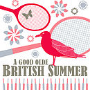 British Summertime Print - Red and grey