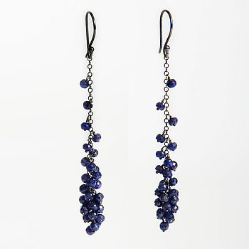 Drop Earrings, Sapphire