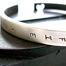 Personalised Heart Cuff