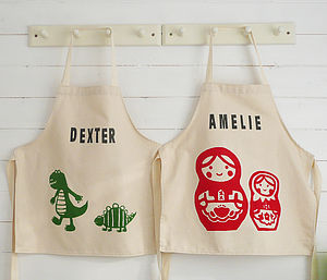 Printed Children's Personalised Aprons - children's cooking