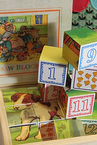 Vintage Style Wooden Number Blocks