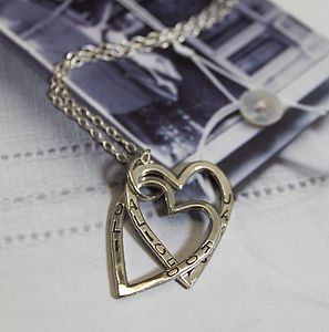 Interlinking Heart Necklace - children's jewellery