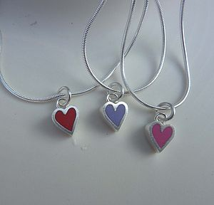 Heart Silver And Resin Necklace