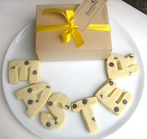 Shortbread Biscuit Letters - cakes & sweet treats