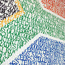 Personalised Typographic Flag Artwork