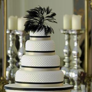 Miss Dotty Four Tier Wedding Cake