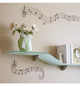 Crotchets And Quavers Wall Stickers