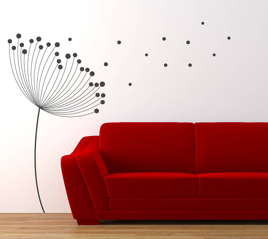 dandelion wall sticker by nutmeg notonthehighstreet com