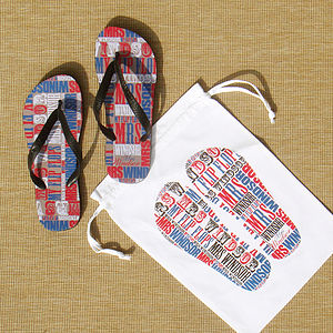 Personalised 'Mr' or 'Mrs' Flip Flops