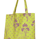 Lime Floral Organic Printed Shopper