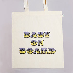 Baby On Board Tote Bag - gifts for mums-to-be