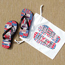 Personalised Children's 'My Flip Flops' Royal