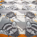 Geo Bug Long Silk Scarf