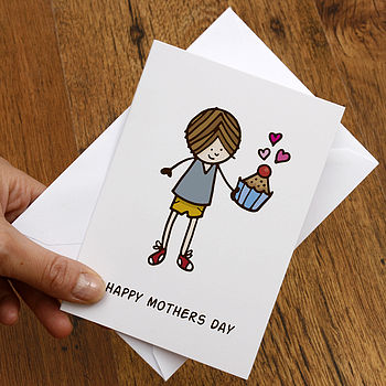 Illustrated Muffin Mothers Day Card